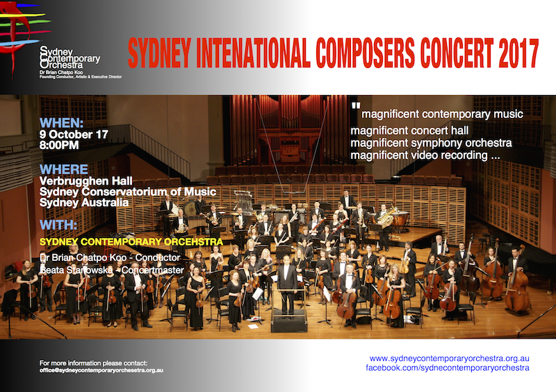 Sydney International Composers Concert 2017 (SCO CONCERT No.11)