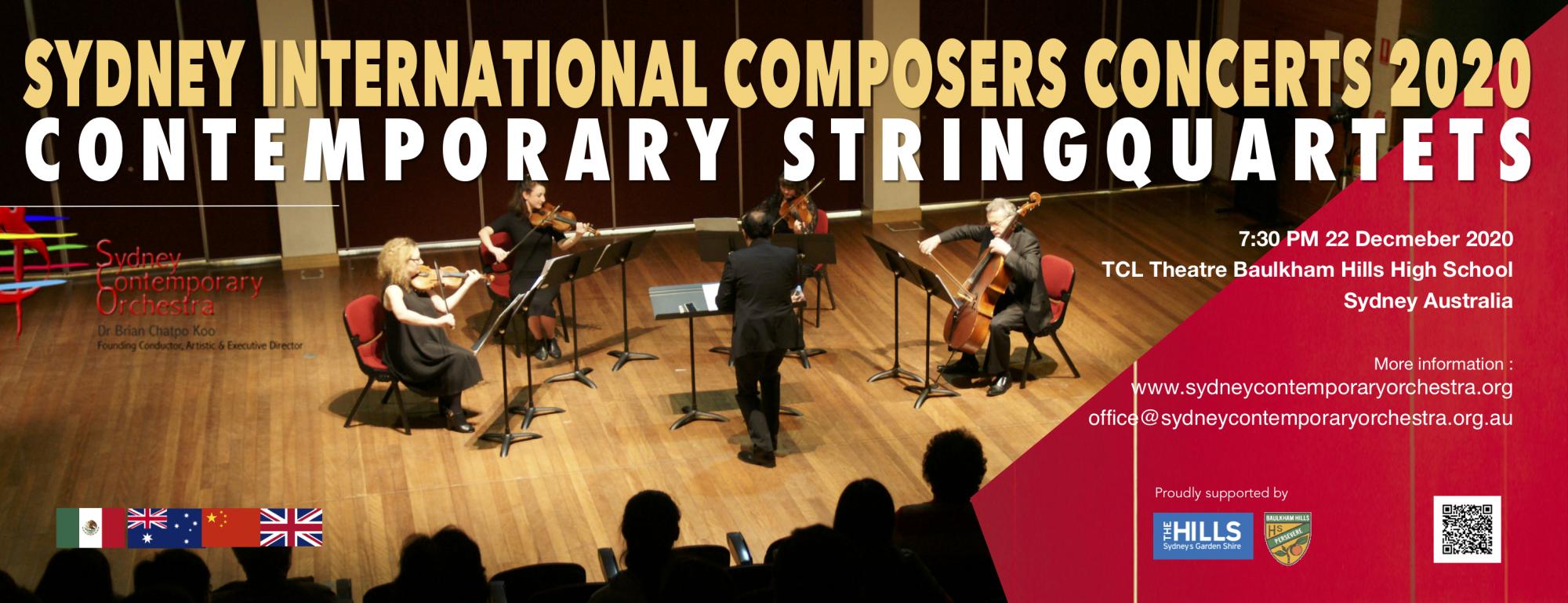 Contemporary String Quartets  2020 (SCO CONCERT No.14)