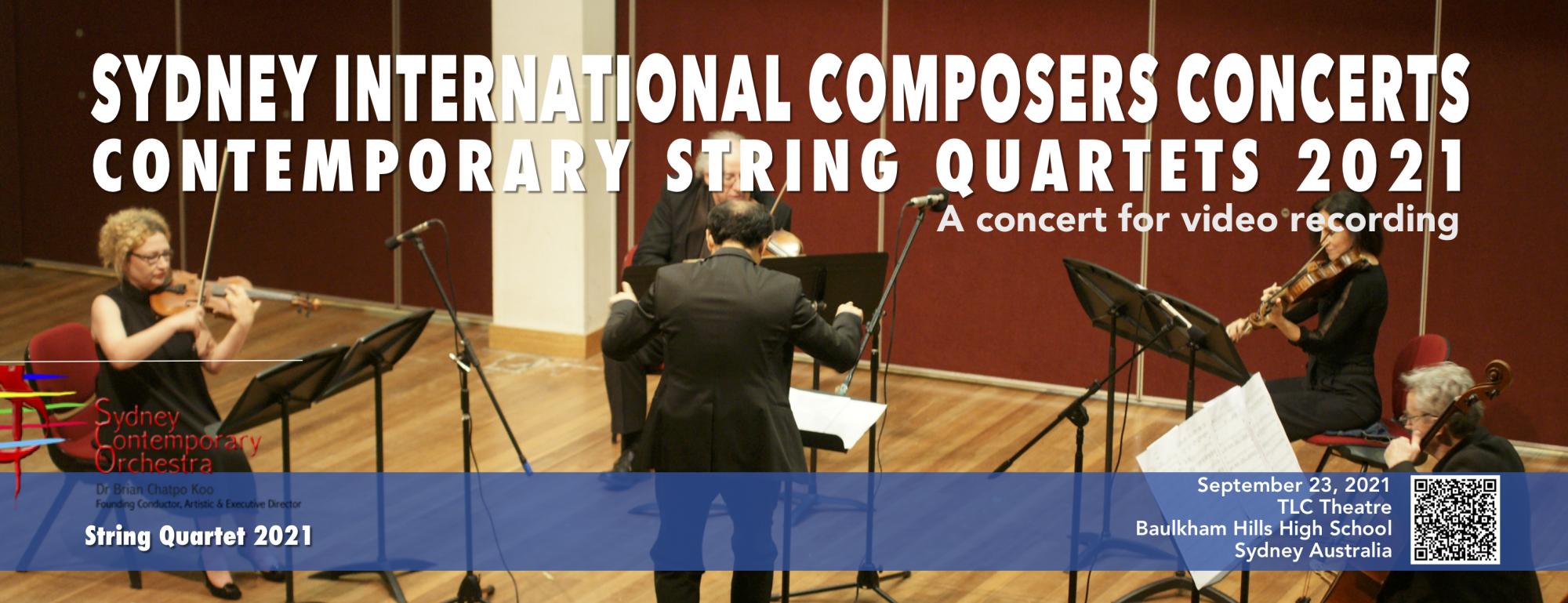 Contemporary String Quartets  2021 (SCO CONCERT No.18)