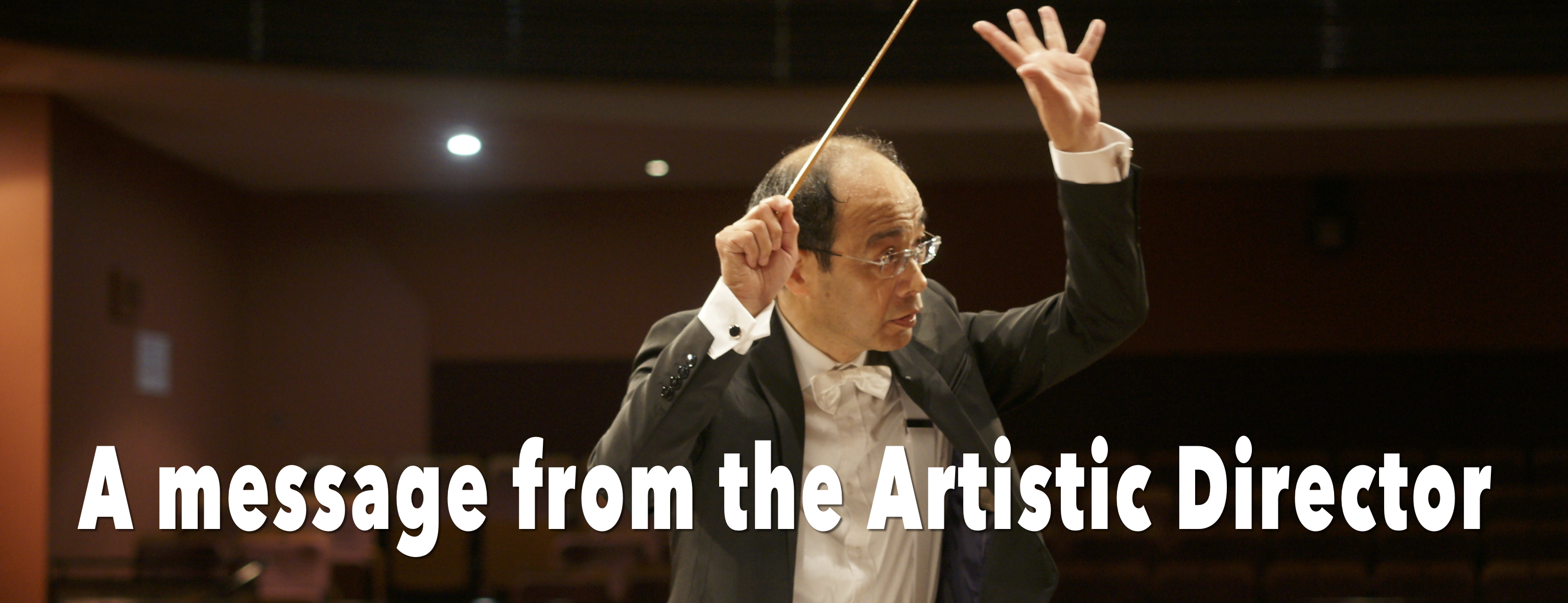A Message from the Artistic Director